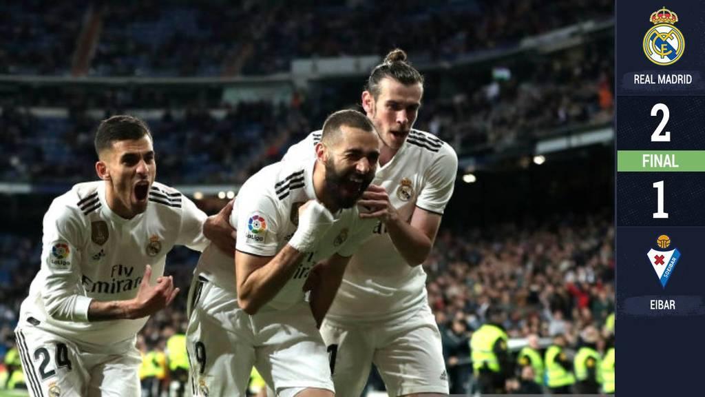 Benzema salvo al Madrid ante el Eibar